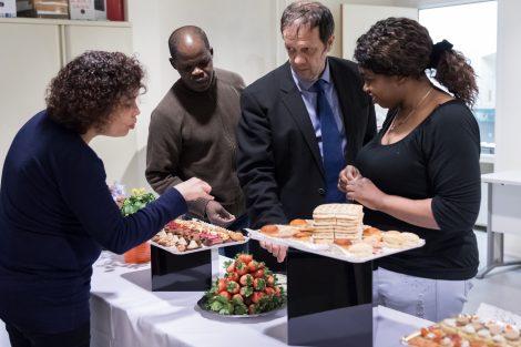 préparation buffet ESAT Le Colibri