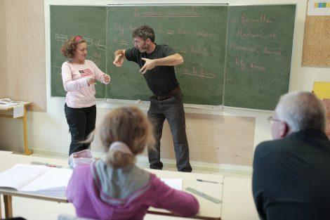 cours langue des signes IME La Providence - Foyer de Saint-Marcellin