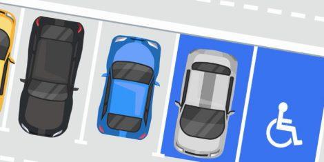 place de stationnement adapté