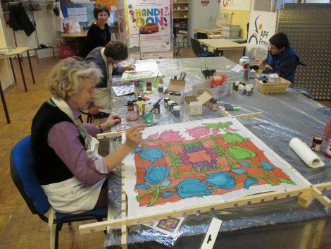 atelier peinture sur soie - porcelaine